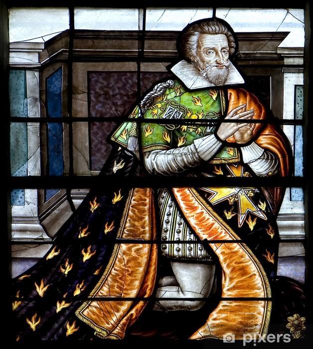 Naklejka Pixerstick Vitrail de Henri IV - Sztuka i twórczość
