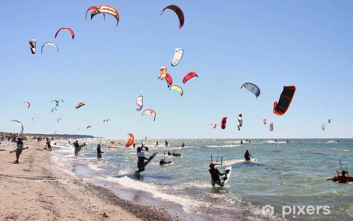 Nálepka Pixerstick Kiteboarding soutěž - Vodní sporty