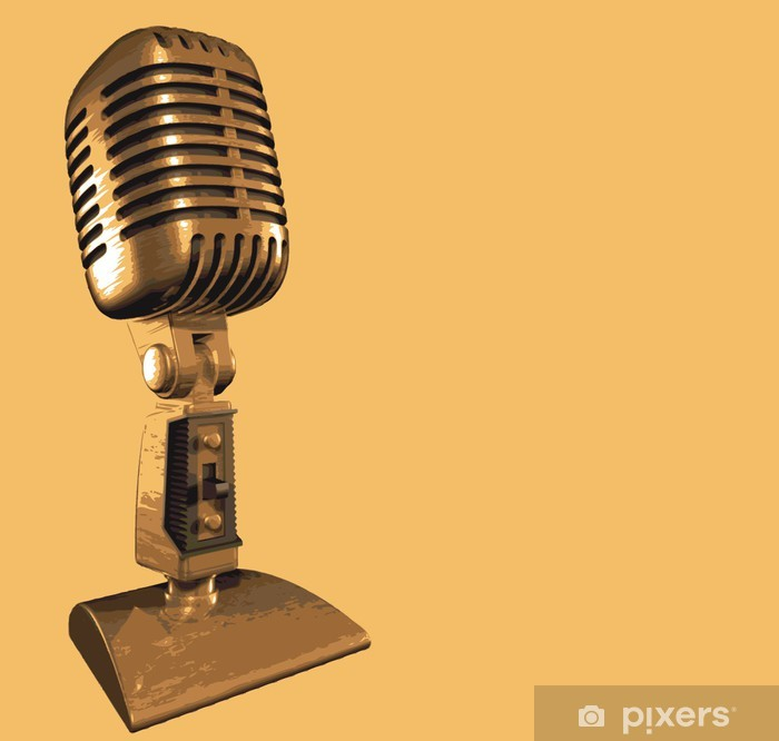 Retro mikrofon vintage musikk innspilling Premium