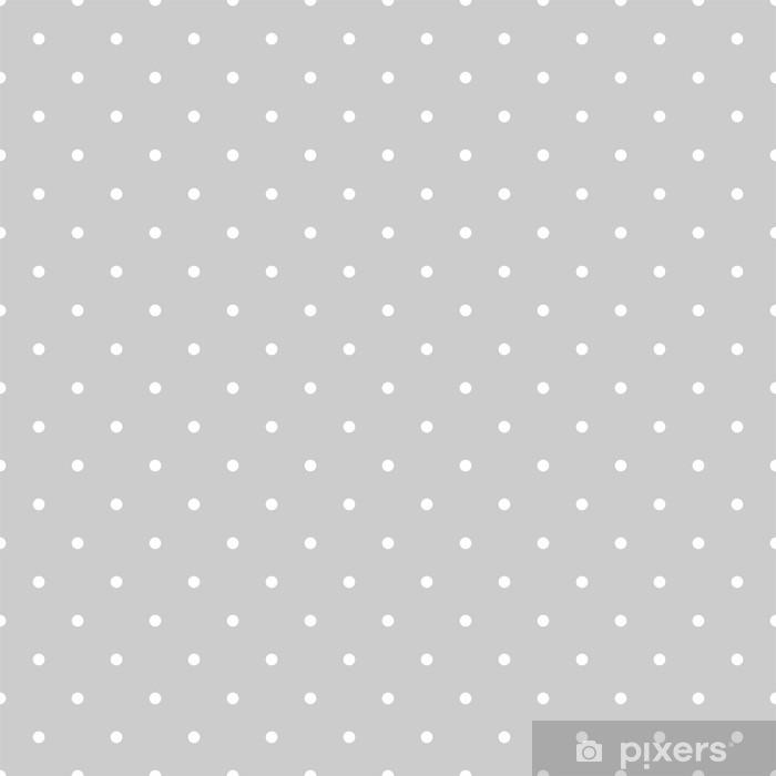Fototapet av Vinyl Seamless vit och grå vektor mönster eller kakel bakgrund med prickar - Grafiska resurser