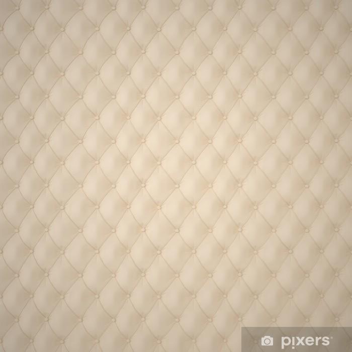 Zelfklevend Fotobehang Beige Capitone bekleding patroon Achtergrond met knoppen voor decoratie. Classics en Rococo. Teruggeven in 3D Program. - Texturen