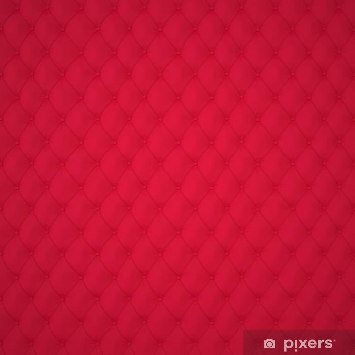 Pixerstick Sticker Red Capitone bekleding patroon Achtergrond met knoppen voor decoratie. Classics en Rococo. Teruggeven in 3D Program. - Texturen