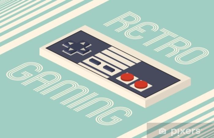 Carta da Parati in Vinile Illustrazione vettoriale di gioco retrò - Hobby e Tempo Libero