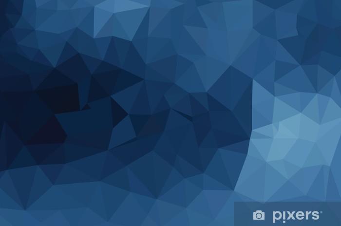 Blå geometriske mønster, trekanter baggrund Køleskab klistermærke - Grafiske Ressourcer