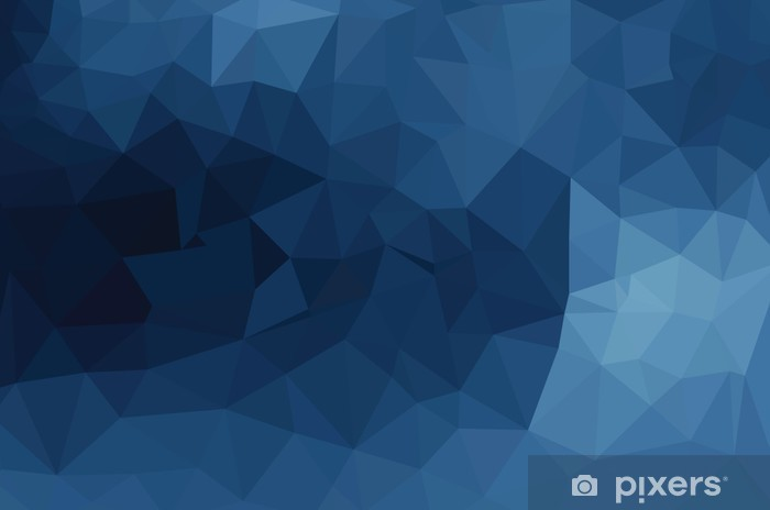 Vinilo para Nevera Patrón geométrico azul, fondo triángulos - Recursos gráficos