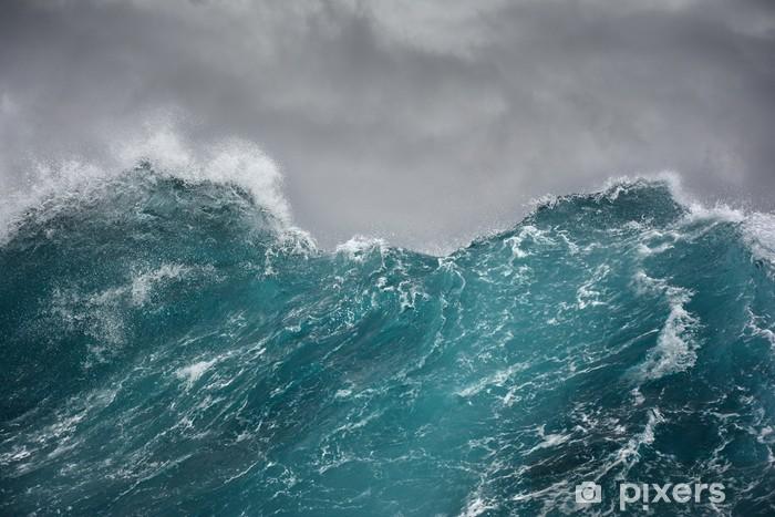 Papier peint vinyle Une vague et la mer - Eau