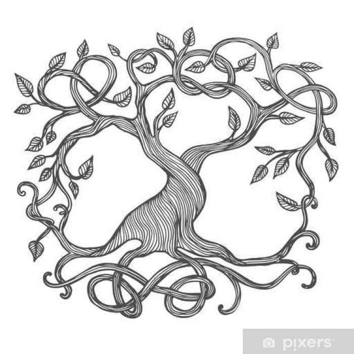 Fototapete Keltischer Baum Des Lebens Pixers Wir Leben Um Zu
