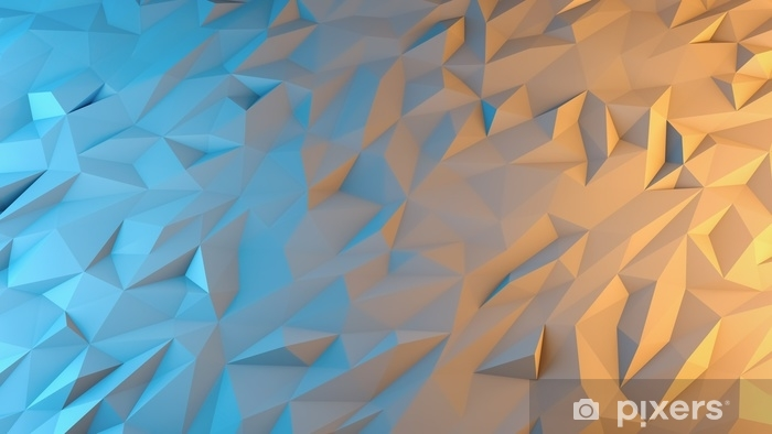 abstract 3d render background. Techno triangular low poly background Washable Wall Mural - Graphic Resources