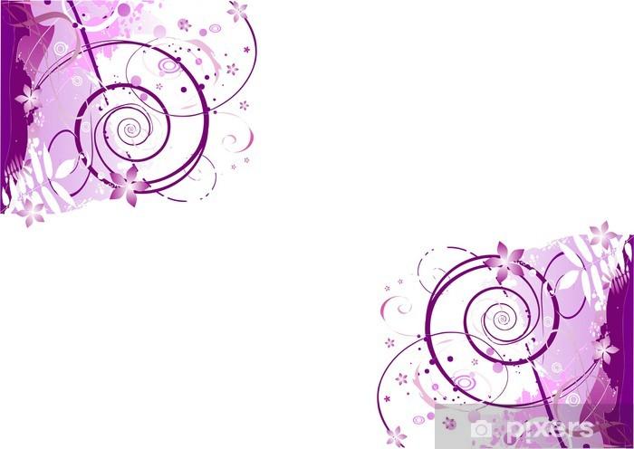 Nálepka Pixerstick Rohy růžová purpurové pozadí s ornamentem obrázku - Pozadí