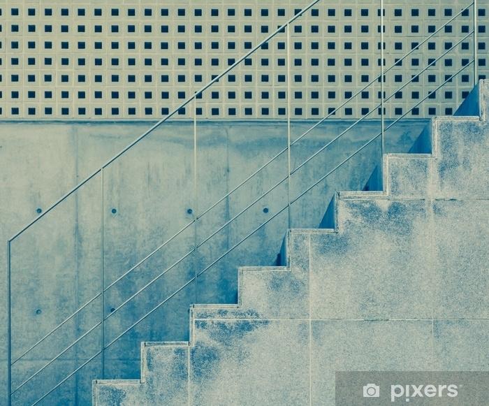 Fotomural Estándar Escalera de hormigón y muro de cemento en edificio moderno .. - Construcciones y arquitectura