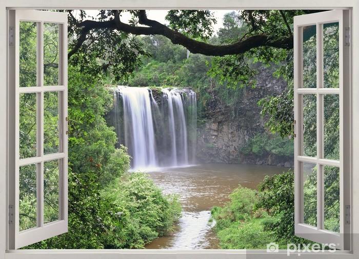 Fototapeta winylowa Dangar Falls obejrzeć w otwartym oknie - iStaging