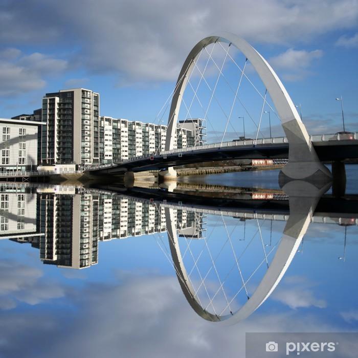 new bridge reflected in river Clyde Glasgow Scotland Pixerstick Sticker - Criteo