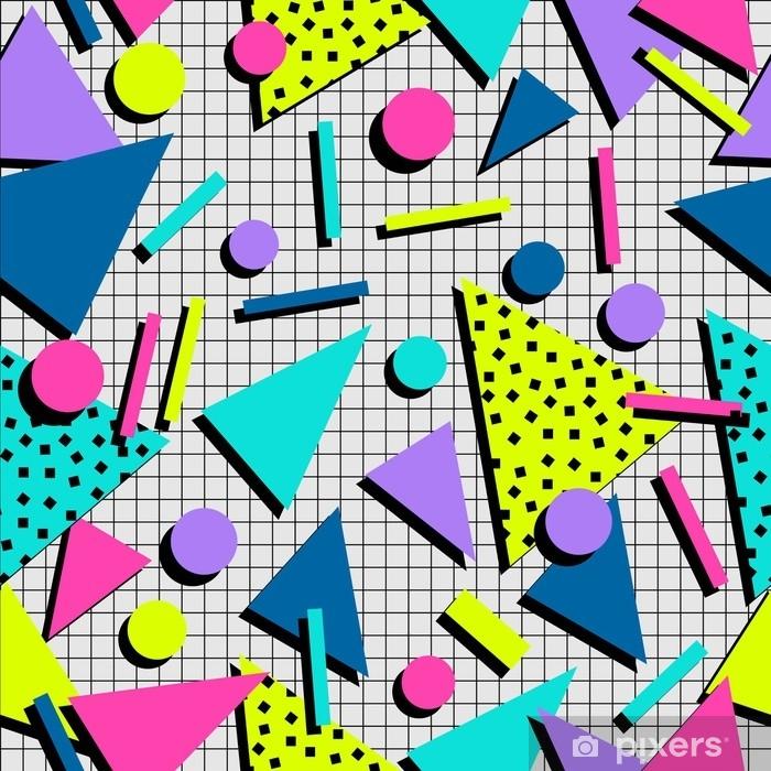 Raamsticker Retro 80s naadloze patroon achtergrond - Grafische Bronnen