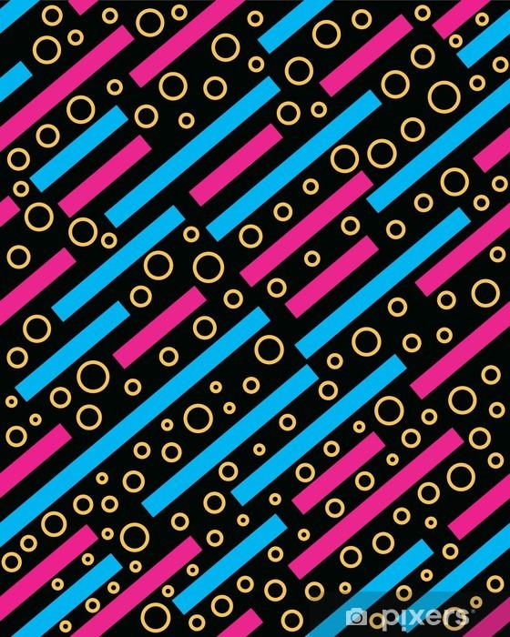 Papier peint vinyle Retro 80s memphis motif de fond - Arrière plans