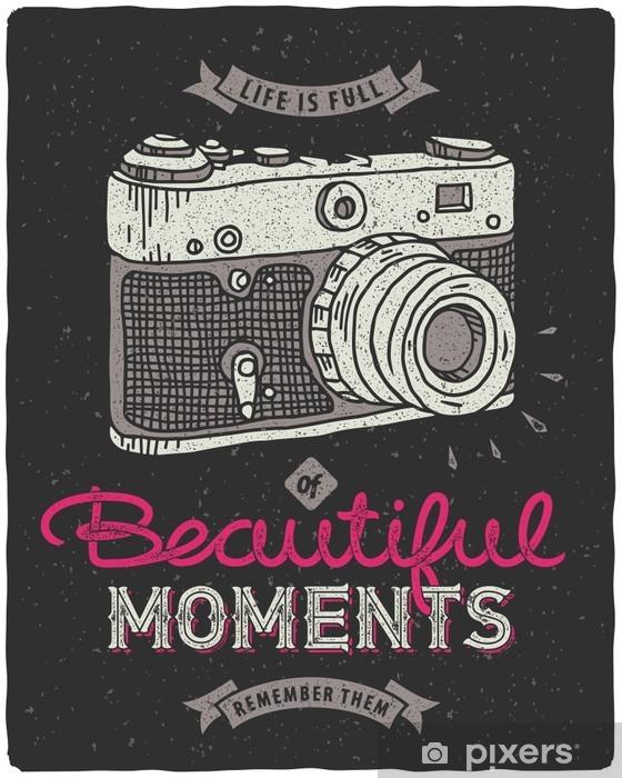 Naklejka Pixerstick Vintage aparat fotograficzny - Hobby i rozrywka