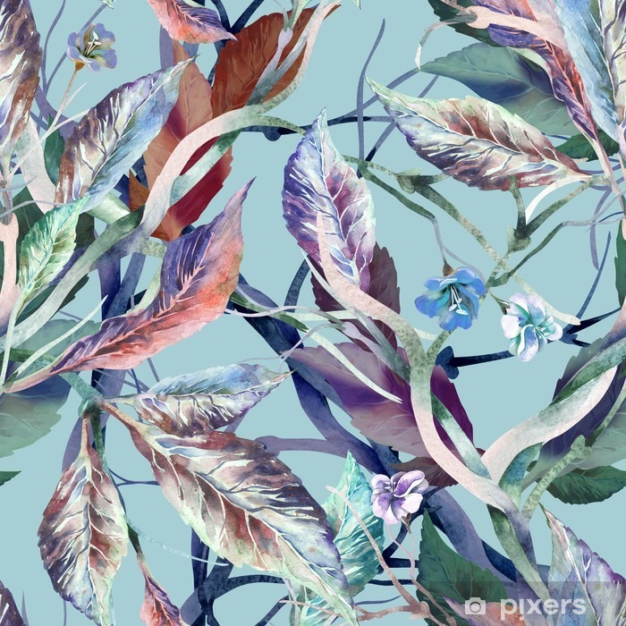 Leaves Seamless Pattern Vinyl Wall Mural - Plants and Flowers