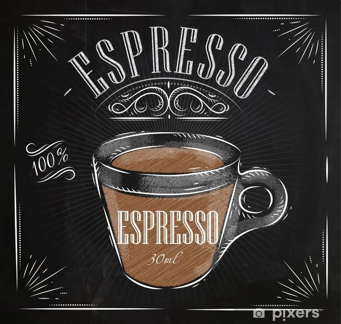 Plakat Plakat espresso kreda - Gorące napoje