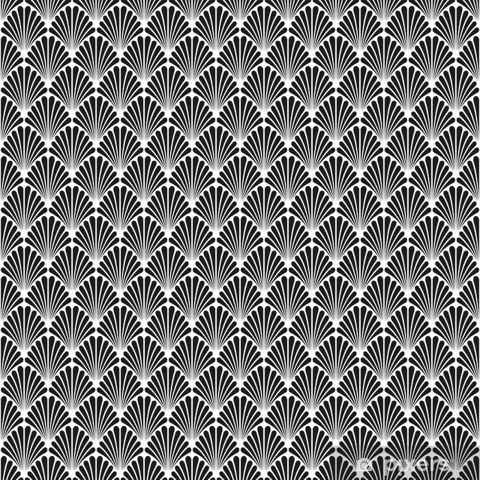 Abstract Seamless Art Deco Vector Pattern Texture Pixerstick Sticker - Graphic Resources