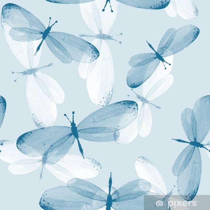 Sticker Pixerstick Le motif des papillons. arrière-plan transparent. illustration aquarelle 12 - Animaux