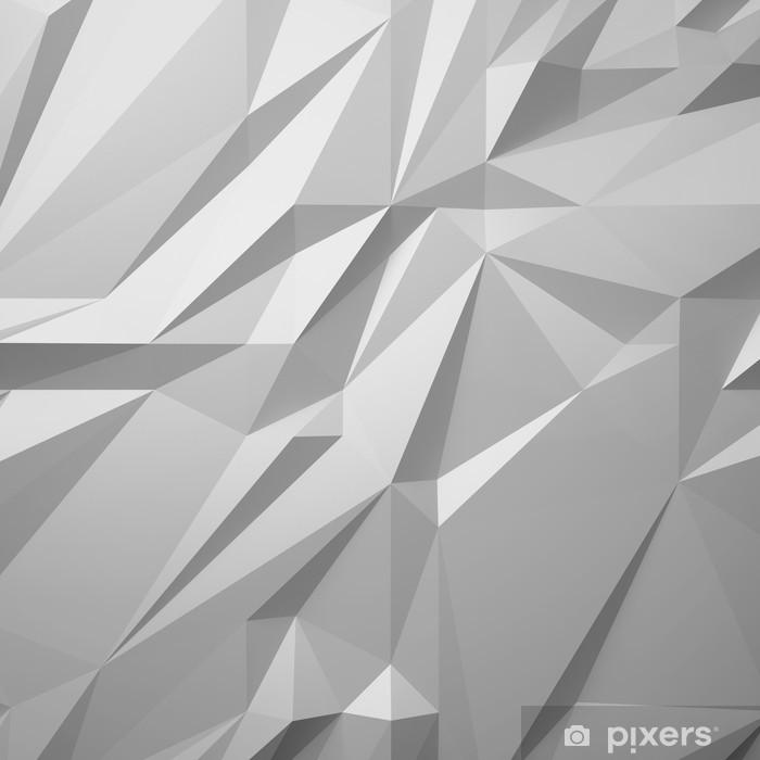 Fototapeta samoprzylepna Streszczenie białym tle low poly - Tła
