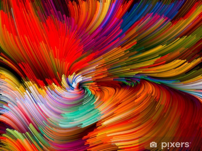 Vinyl Fotobehang Color Vortex Composition - Achtergrond