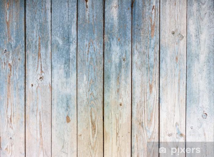 Naklejka Pixerstick Zabytkowe drewniane tle niebieski - Tła