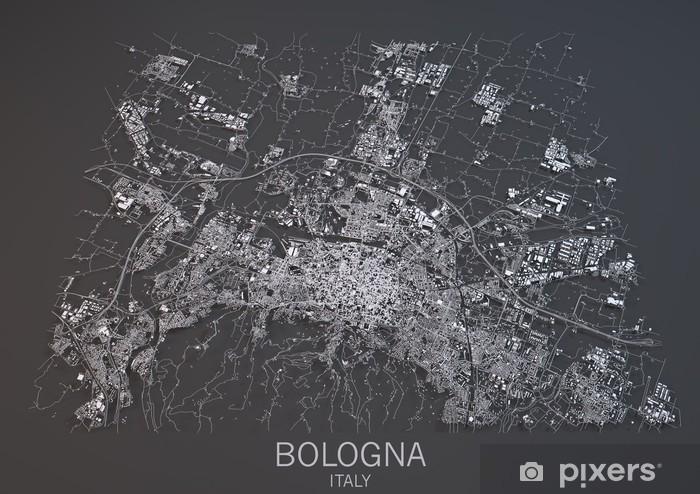 Cartina Geografica Satellitare.Vista Satellitare Di Bologna Mappa Cartina 3d Sezione Wall Mural Pixers We Live To Change