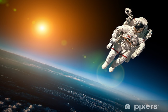 Vinyl Fotobehang Astronaut in de ruimte - Ruimte