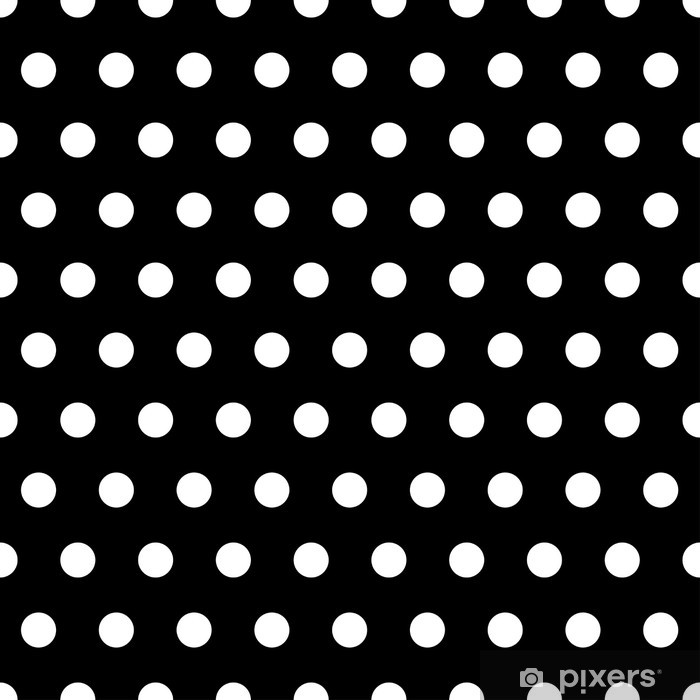 Black and White Dots Background Wall Mural • Pixers® - We live to ...