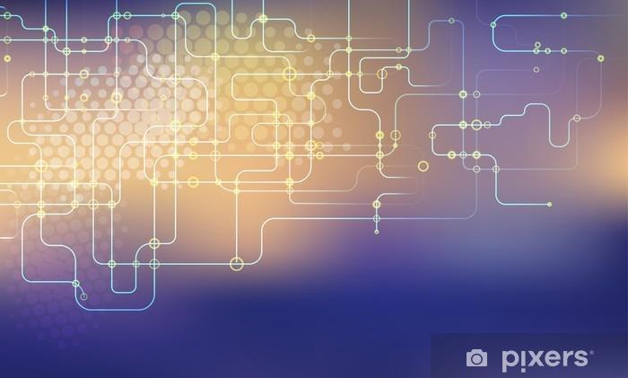 Naklejka na lodówkę Tło Network - Zasoby graficzne