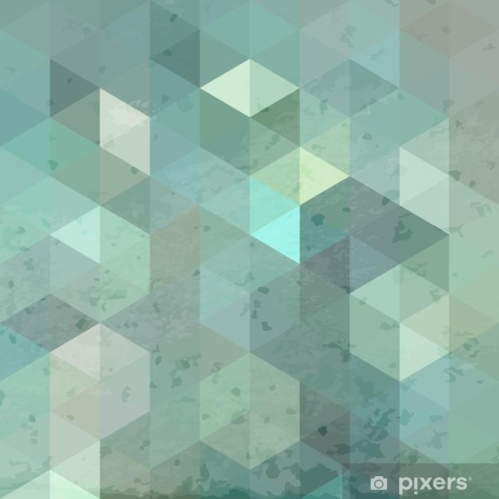 Papier peint vinyle Rétro fond géométrique avec grunge texture - Ressources graphiques