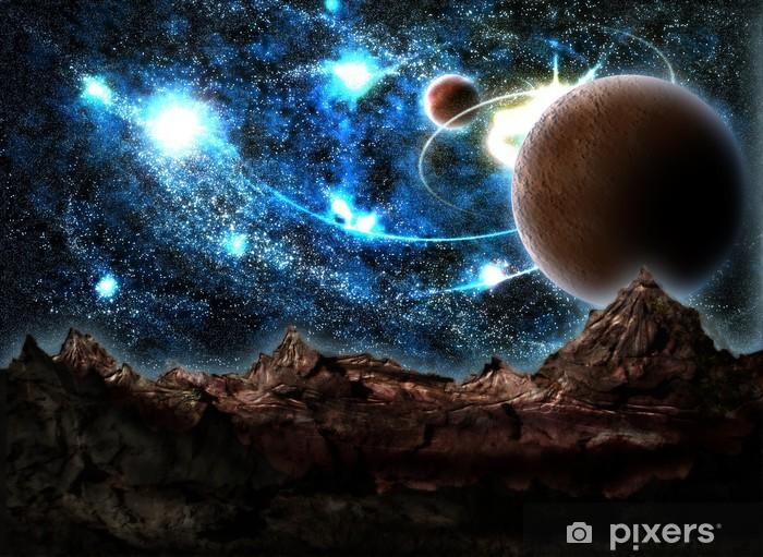 Naklejka Pixerstick Zaginiony Świat, planeta, kosmos - Planety