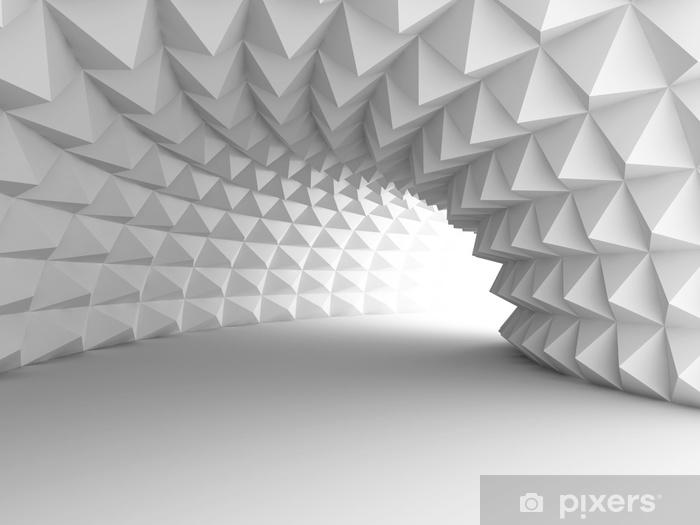 Fotomural Autoadhesivo Túnel de arquitectura abstracta con fondo claro - Construcciones y arquitectura
