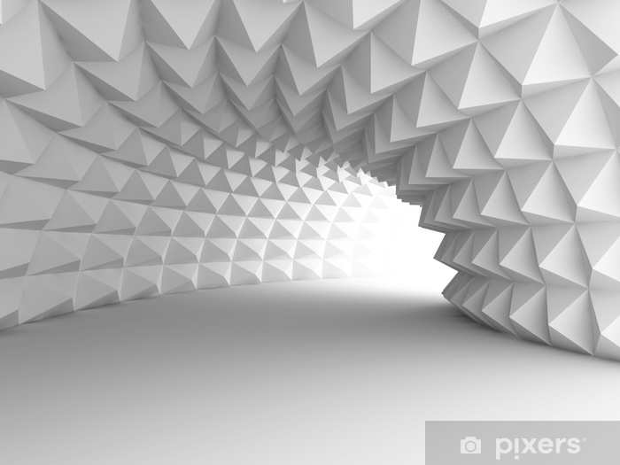Vinilo Pixerstick Túnel de arquitectura abstracta con fondo claro - Construcciones y arquitectura