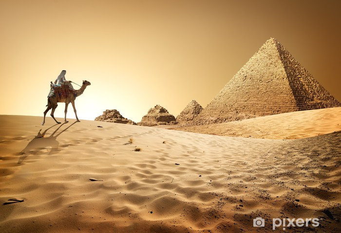 Naklejka Pixerstick Piramidy w pustyni - Zabytki