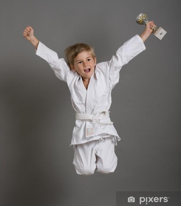Papier peint vinyle Judo enfant kimono gagner victoire sport champion saut - Sports individuels