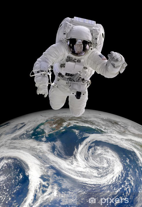 Fotomural Estándar Astronauta en el espacio exterior - Espacio exterior