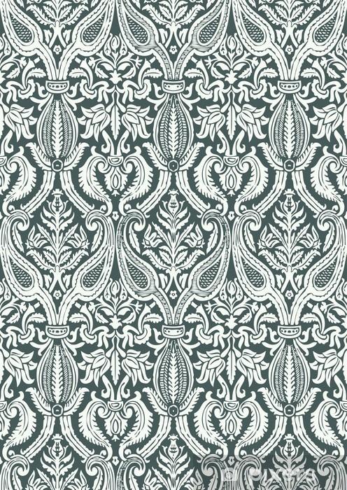 Bord- og skrivebordsklistremerke Vector sømløs floral damask mønster vintage abstrakt backgroun - Grafiske Ressurser