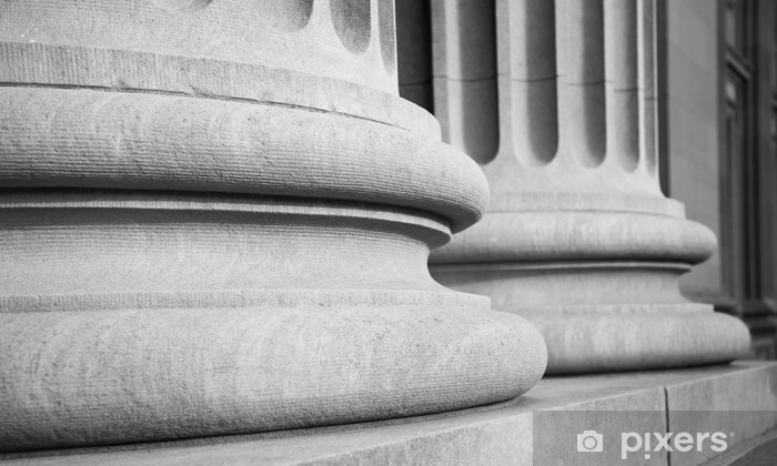 Naklejka Pixerstick Kolumny architektoniczne w klasycznym Federalnej buuilding - Budynki i architektura