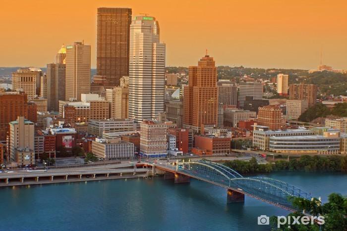 Papier peint vinyle Centre-ville de Pittsburgh - Situations
