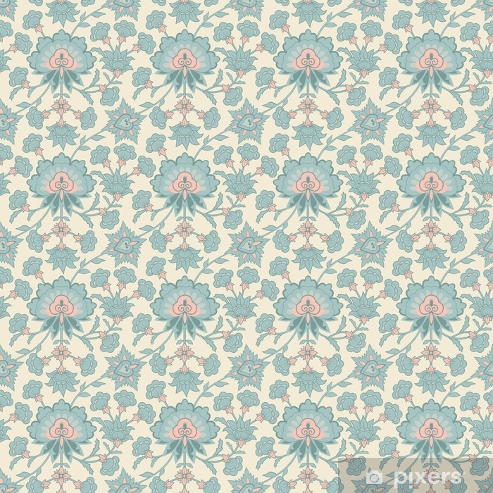 Vector seamless wallpaper pattern Pixerstick Sticker - Graphic Resources