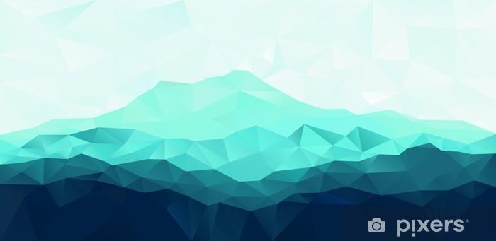 Fototapeta samoprzylepna Trójkąt geometryczne tło z Blue Mountain - Zasoby graficzne