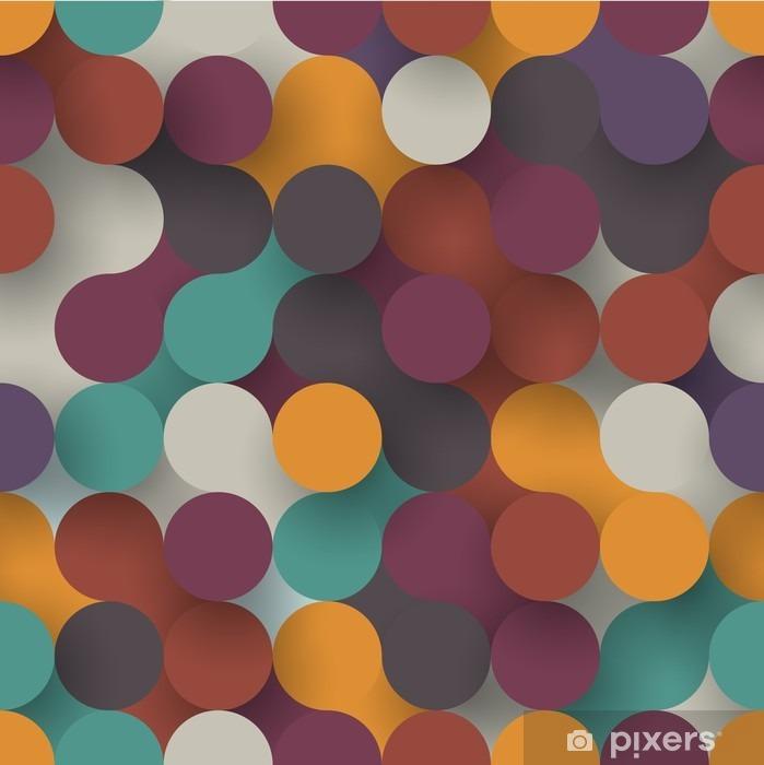 Fototapet av Vinyl Sömlösa platta cirklar - Grafiska resurser