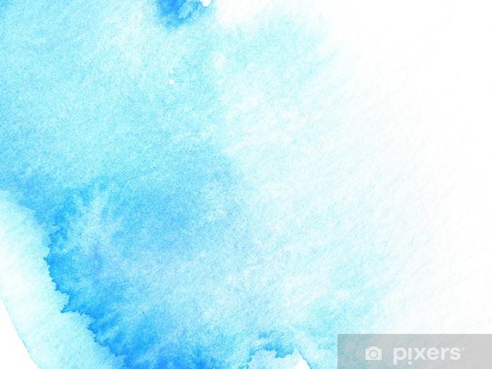 Sticker Pixerstick blue abstract watercolor background design - Arrière plans