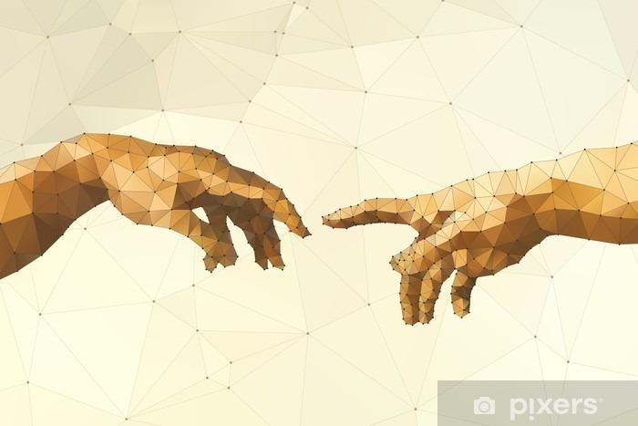 Naklejka Pixerstick Streszczenie ilustracji wektorowych ręka Boga - Zasoby graficzne
