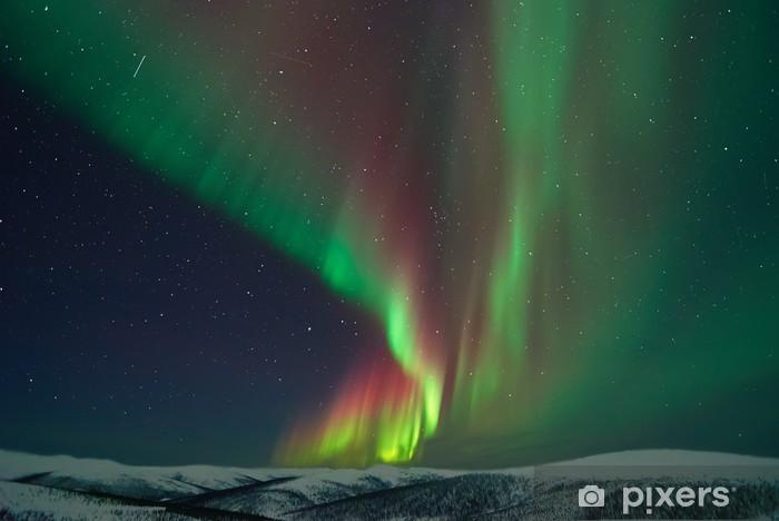 Vinyl Fotobehang Aurora Borealis en meteoren in Alaska - Wildernis