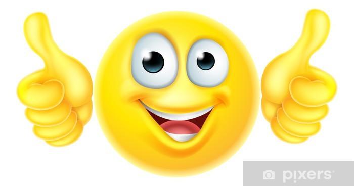 Vinilo Pixerstick Pulgares para arriba emoticono emoji - Señales y símbolos