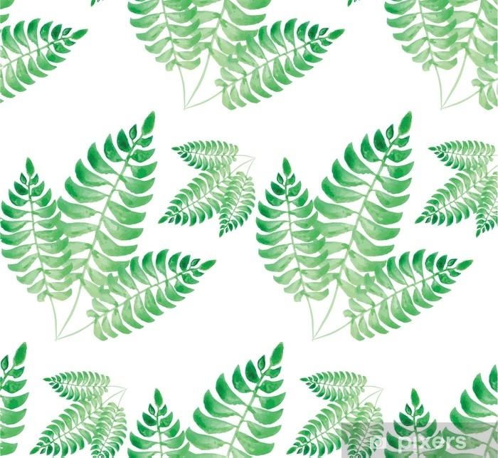 Papier Peint Motif De Feuille Verte Aquarelle Pixers Nous