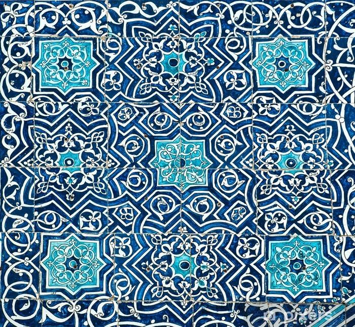 Naklejka Pixerstick Kafelki tło z orientalnymi ornamentami - Tła