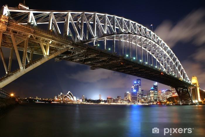 Oper und Harbour-Bridge von Sydney Pixerstick Sticker - Oceania